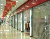 Porta transparente comercial do obturador da segurança do policarbonato de Shopfront/centro comercial/loja