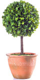 屋内か屋外の装飾のためのMacheのペーパー鍋の人工的なミラノの葉の球の形を変える