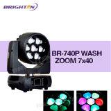 급상승 (BR-740P)를 가진 소형 7*40W LED 이동하는 맨 위 세척 단계 빛