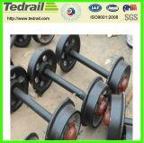 Insieme di rotella personalizzabile dell'automobile della miniera del ghisa di caricamento di resistenza o dell'acciaio di getto/rotella di vagone carboniera