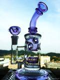 Großverkauf 9 Zoll purpurrotes MiniHandblown Glaswasser-Rohr
