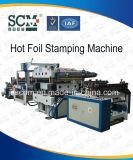Macchina calda del foglio per l'impressione a caldo di trasferimento idraulico automatico completo per il comitato del PVC