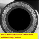 Boyau flexible de boyau en caoutchouc résistant spiralé lourd de pétrole hydraulique