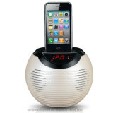 LCDの目覚し時計のドッキング端末のiPhone4およびAndriodの可動装置のためのMicサポートFMラジオが付いている無線Bluetoothの可聴周波スピーカー
