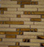 Горячая мозаика стекла и металла золота прокладки сбывания для украшения стены