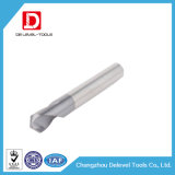 La flauta espiral inferior de la flauta del carburo 2 perfora sin recubrimiento para el aluminio
