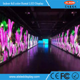 Pared video de interior de alta resolución de P3 LED para el estudio