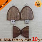 최신 타원형 호두 목제 USB 섬광 드라이브 승진 선물 (YT-8119L1)