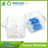 Cuarto de baño de las esponjas de las bolas de algodón del sostenedor y rectángulo de almacenaje de acrílico amontonables de la vanidad