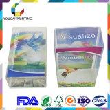 Caisse d'emballage visualisée à extrémité élevé de PVC/Pet/PP avec la double impression de tailles