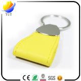 Encadenamiento dominante de cuero de la PU del espacio en blanco amarillo de la manera