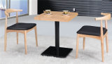 Los muebles de madera del restaurante de las piernas del acero inoxidable fijaron para la venta