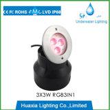 Luz subaquática Recessed diodo emissor de luz do poder superior de DC24V 9watt IP68