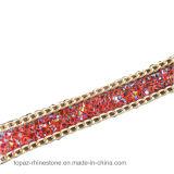 Ferro del testo fisso del merletto di Hotfix della pietra preziosa sulla catena del Rhinestone del diamante per gli accessori per il vestiario DIY (TS-15mm Siam ab)