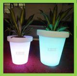 Plástico Iluminado Florero Decoración Del Hogar LED Plantación