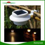 Éclairage LED extérieur d'énergie solaire pour l'allumage de lampes de décoration de yard de creux de la jante de toit de frontière de sécurité de jardin