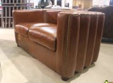 Klassisches ledernes Sofa, volles echtes Leder-Sofa Yh-143