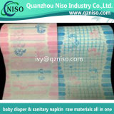 Soft pañal Backsheet Cine para bebés de pañales Materias Primas