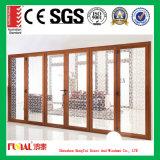 Porte coulissante en verre en aluminium personnalisée de taille avec la double glace