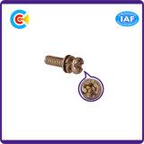 Acier inoxydable Multicolore Cross / Phillips Pan Head Fastener / Fittings Vis avec joint / rondelle