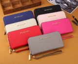 Ritssluiting Dame Woman Long Clutch Leather Portefeuille