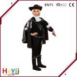 Vestito da partito nero di festa dei vestiti di prestazione della fase del mago di modo