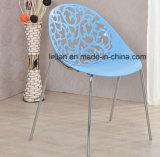 Plástico do projeto moderno que empilha o assento comercial, cadeira de jardim (LL-0064)