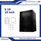 S10 het Sub Commerciële Audio Kleine Professionele Woofer van 10 Duim (TACT)