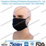 Mascarilla activada 4ply disponible del respirador del carbón Pfe99 del Non-Woven del embalaje individual Qk-FM004
