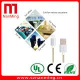 Umsponnenes Gewebe Mikro-USB Synchronisierungs-Daten-Aufladeeinheits-Kabel