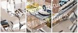 Tableau dinant en verre d'acier inoxydable des meubles 2014 à la maison modernes à haute brillance premier (SJ806)