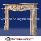 Chaminé do mármore da cornija de lareira da chaminé de pedra (SK-1580)