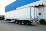 任意選択開いたタイプが付いている電気機器または織物の商品または石炭またはDinasの交通機関のための3 Axles DryヴァンTrailer