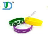 Wristband su ordinazione della gomma di silicone di marchio per il presente