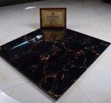 Disegno popolare per il parchè con le mattonelle di pavimento di colore scuro, in pieno mattonelle di pavimento lustrate Polished della porcellana per il materiale da costruzione 800*800/600*600 della decorazione