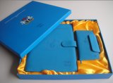 Cuaderno de cuero del Hardcover del cuaderno de /PU