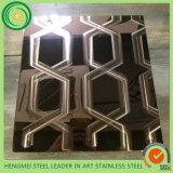 Het in het groot Blad van het Roestvrij staal van de Laser van China 3D voor Binnenlandse en BuitenDecoratie