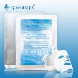 Feuille faciale de masque de 100% de prix usine d'OEM Qianbaijia d'acide hyaluronique de masque facial normal de fibroïne