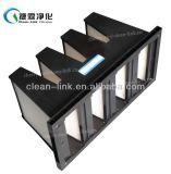 Kompakter steifer Filter für die Klimaanlage mit Filter 4V-Bank