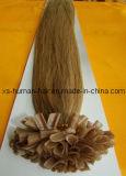 U prega extensões humanas européias do cabelo de Remy da queratina