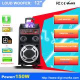 Перезаряжаемые коробка диктора DJ батареи с микрофонами радиотелеграфа USB/SD Bluetooth