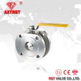 1PC 316 flangeou válvula de esfera inoxidável da bolacha com