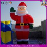 Acontecimiento inflable del soporte enorme de Papá Noel del caramelo de la Navidad para el partido