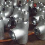 Het opgepoetste Sanitaire Roestvrij staal laste Gelijk T-stuk