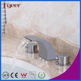 Смеситель тазика Spout водопада ванной комнаты ручки двойника изделий Fyeer санитарный