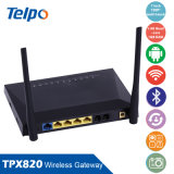 Wireless Gateway VoIP, AC 100-240V, 50Hz. Salida: DC 12V, 1A