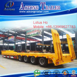 直接Factory Tri Axle 60t Hydraulic Detachable Gooseneck Low Bed Semi Trailer