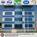 Immeuble de bureau d'étage de Muiti de structure métallique