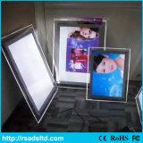 Frame claro de cristal acrílico da caixa leve do diodo emissor de luz