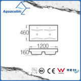 Doppelte Filterglocke-rechteckige Badezimmer-keramische Schrank-Bassin-Handwaschende Wanne (ACB4612D)